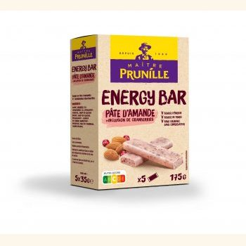 Photo de la recette <span>Energy Bar Pâte d'Amande + Inclusions de Cranberries</span>