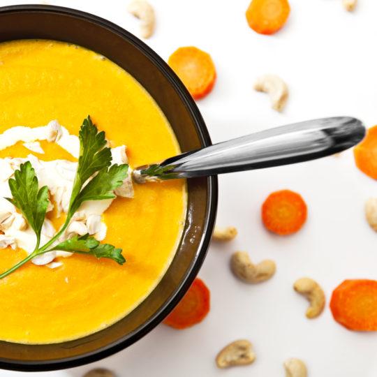 Photo de la recette <span>Cream of carrot and coriander soup</span>