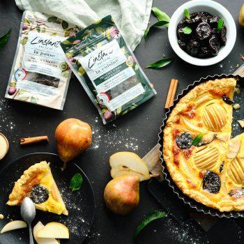 Photo du produit <span>Tarte amandine poire et pruneaux</span>